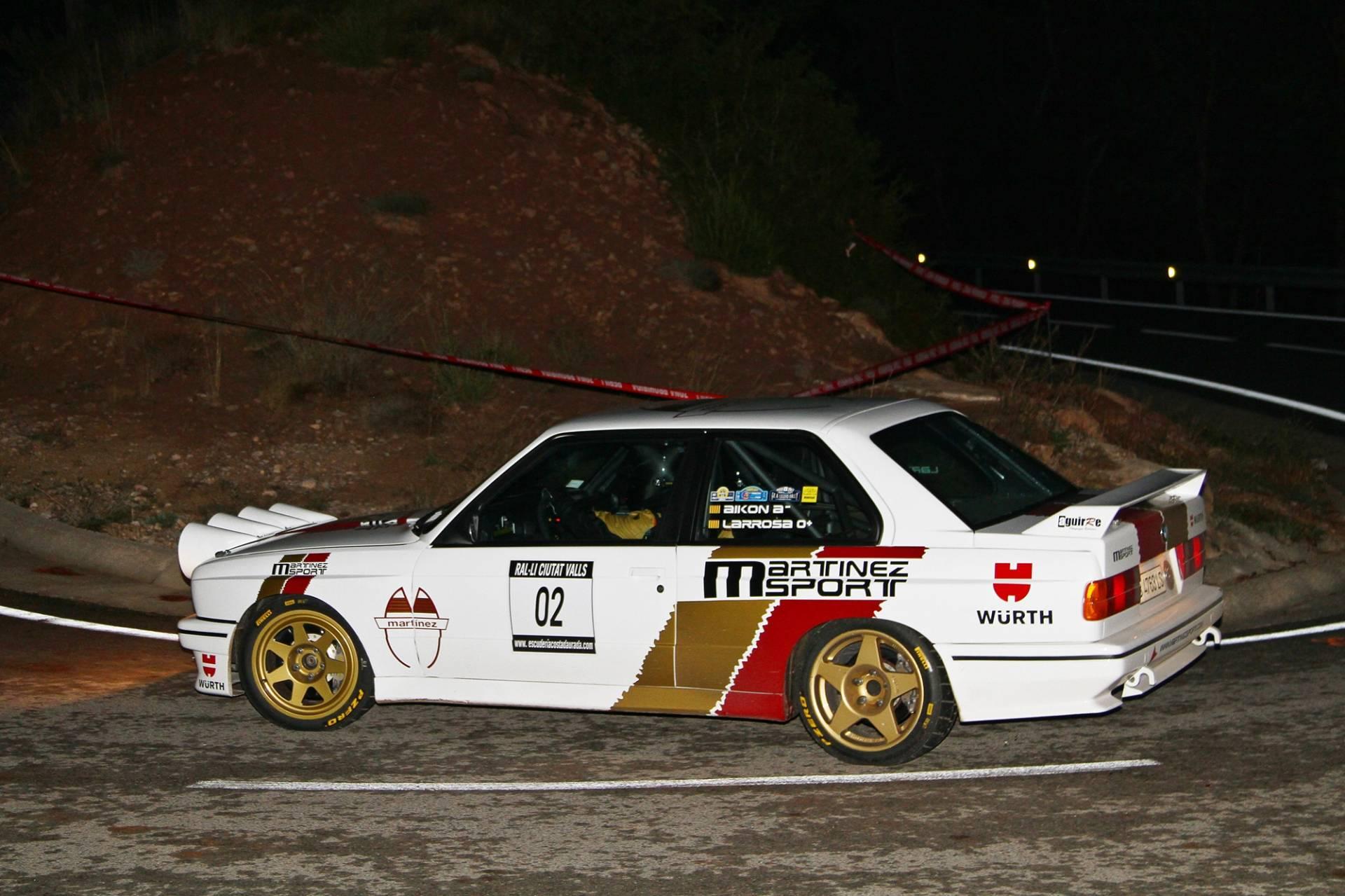 Josep M. Martínez i Luka Larrosa (BMW M3 E30) s'enduen el triomf al 8è. Ral·li Ciutat de Valls