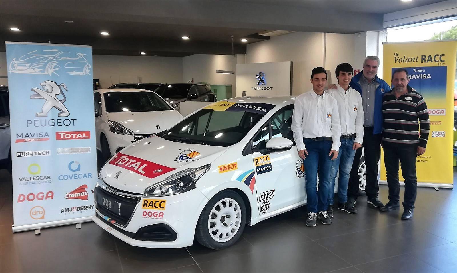 Roger y Ferran Aymerich participaran al Volant RACC amb la beca de la FCA
