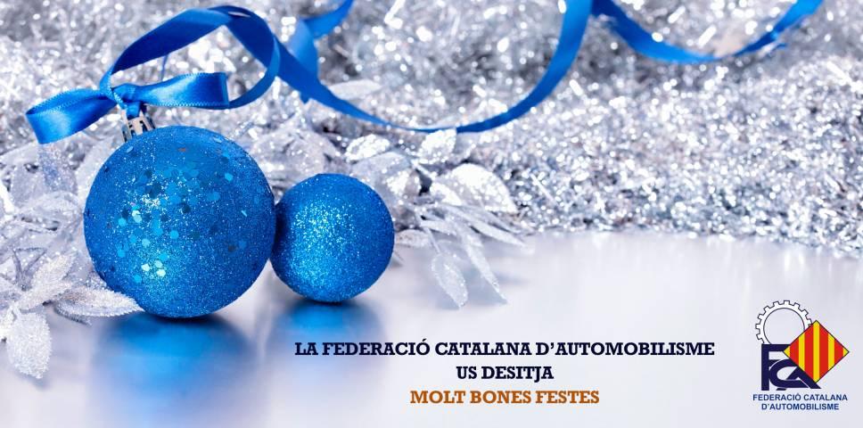 La Federació Catalana d'Automobilisme us desitja Bon Nadal i Feliç Any Nou